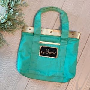 BETSEY JOHNSON teal mini tote
